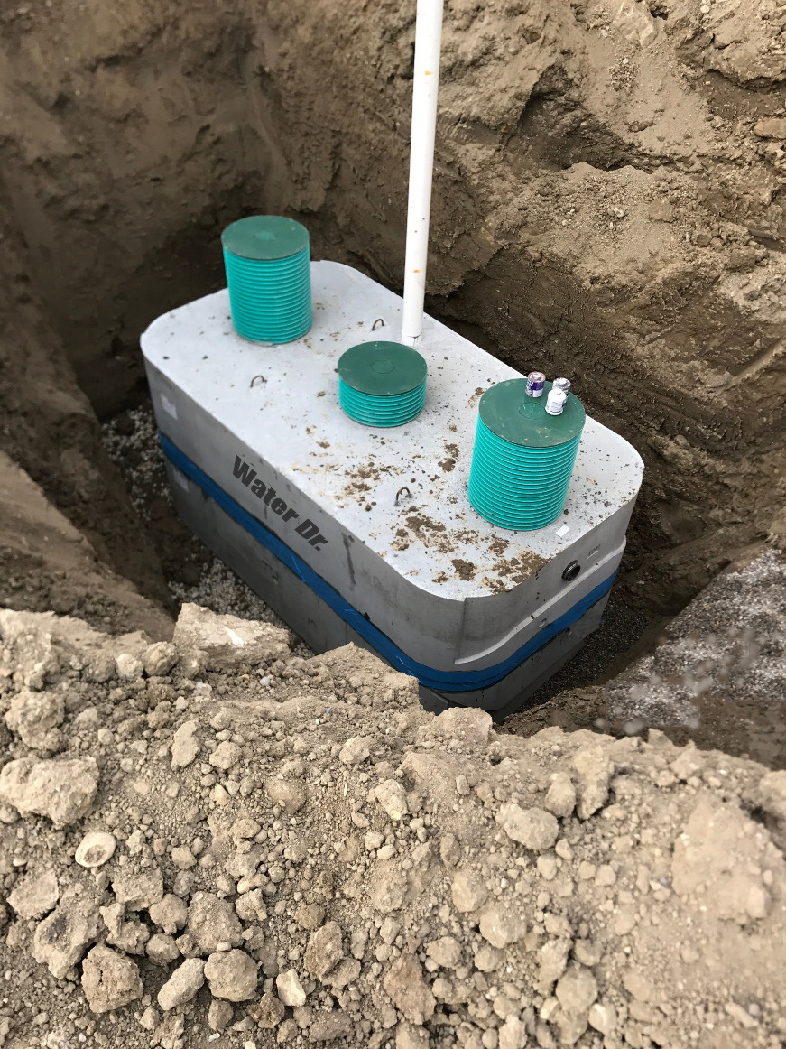 Concrete Septic Tank, Installed by Water Dr., Calgary, Alberta