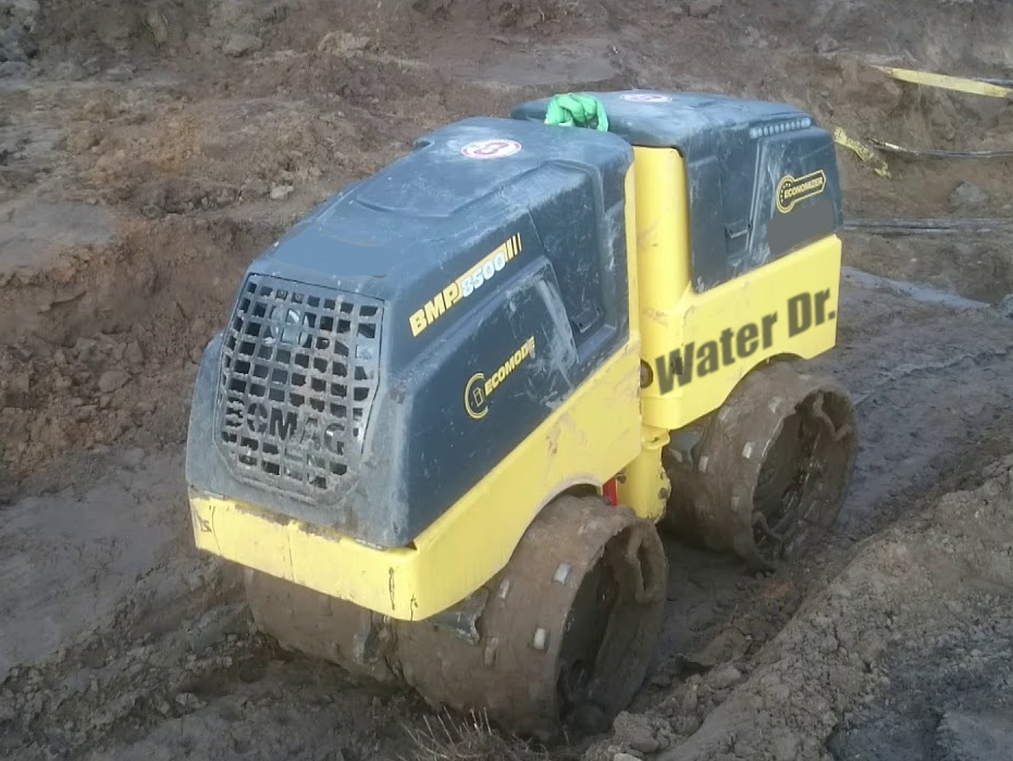 Water Dr. Bomag Trench Compactor, Calgary, AB