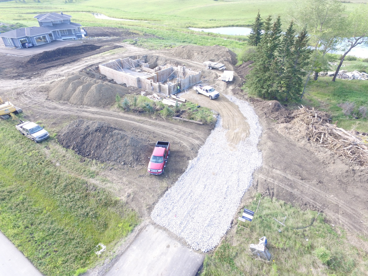 Water Dr., Driveway Construction, Calgary, AB